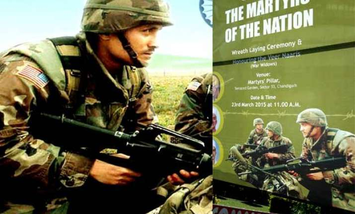faux pas chandigarh municipal corp morphs us army as indian