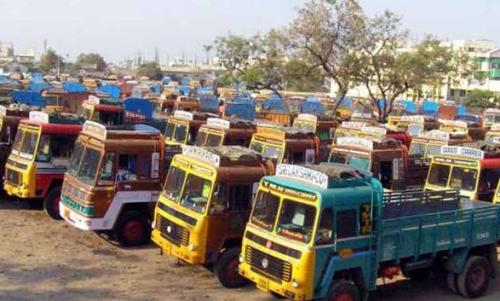 truckers strike hits transportation of goods in rajasthan