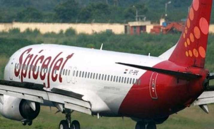 spiecjet plane skids off runway at hubli airport