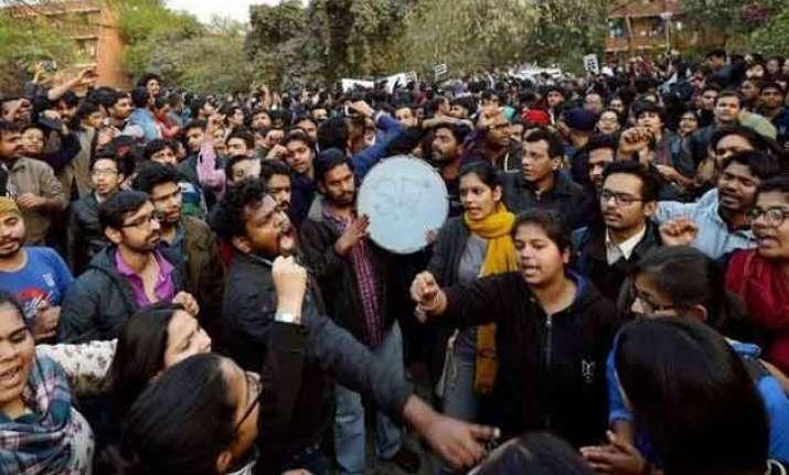 jnu row historians artistes say police action should not