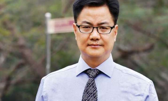 rijiju assures safe environment to people from northeast