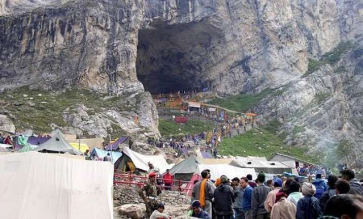 over 2 200 pilgrims leave for amarnath yatra