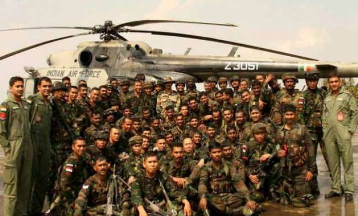india indonesian troops conduct joint training exercises