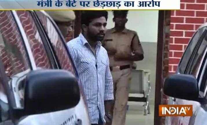 andhra pradesh minister s son sent to 14 days judicial