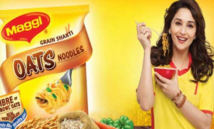 madhuri dixit meets nestle officials assured of maggi