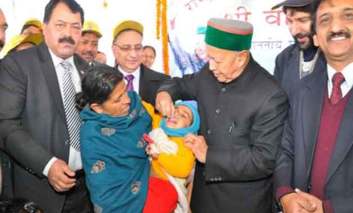 himachal cm launches pulse polio drive