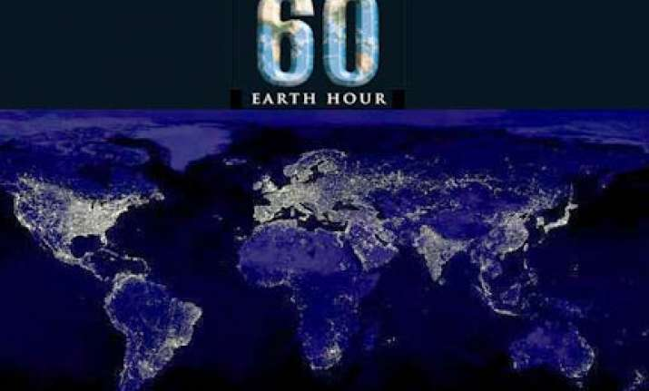 lights to go off for earth hour on saturday
