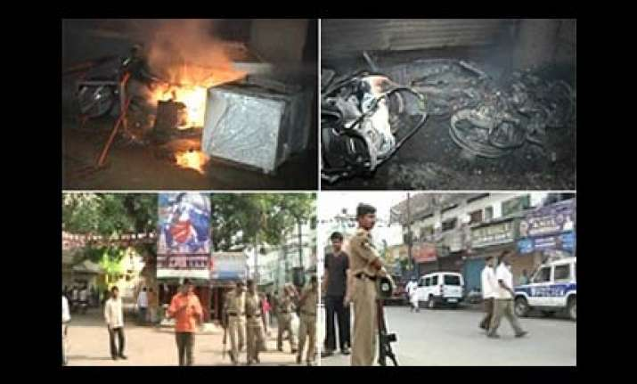 clash hit hyderabad tense govt deploying additional forces