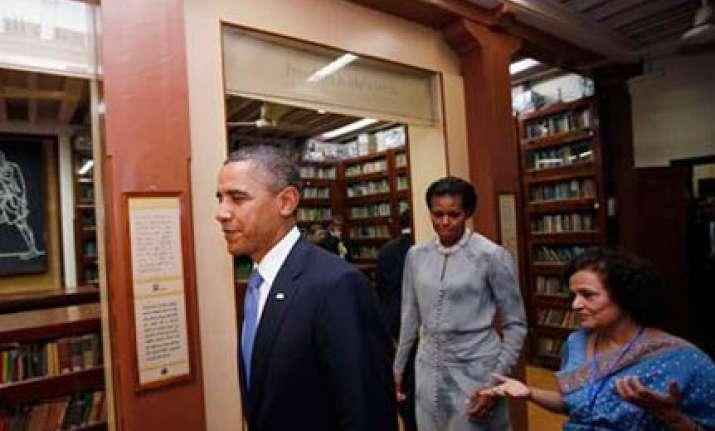obama visits mani bhavan says gandhi a hero for entire world