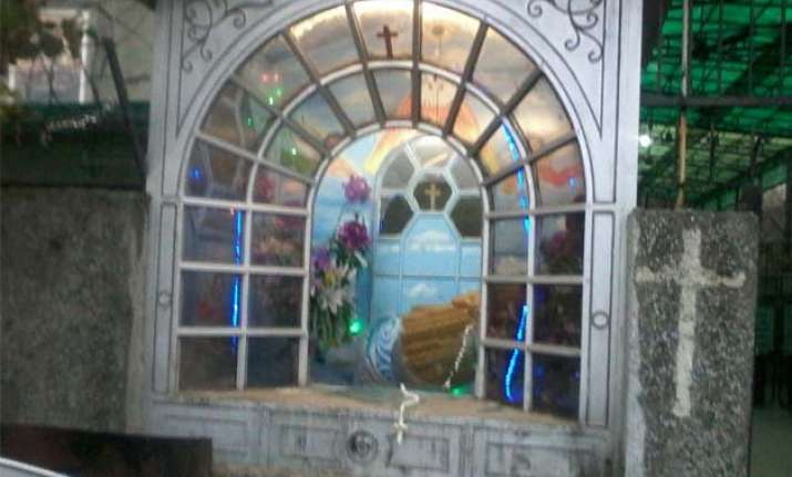 another delhi church vandalized