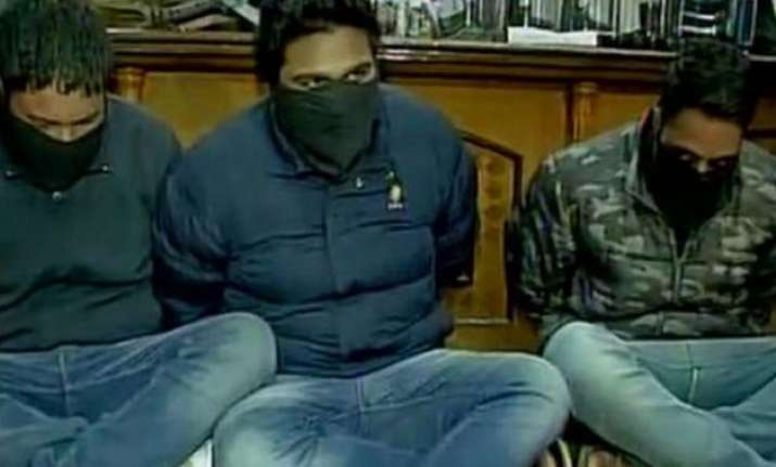 police arrest three with weapons pak sim card in mohali
