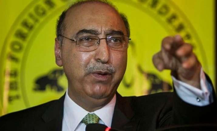 talks not a favour but necessity pakistan envoy abdul basit