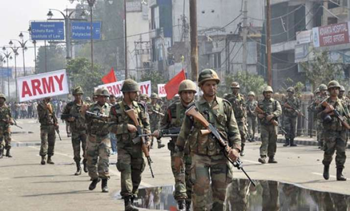 jat stir centre rushes additional 1 700 paramilitary troops