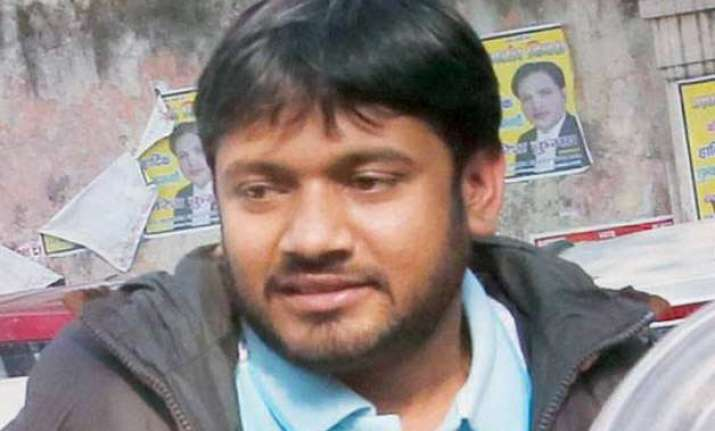 kanhaiya kumar walks out of tihar returns to jnu campus