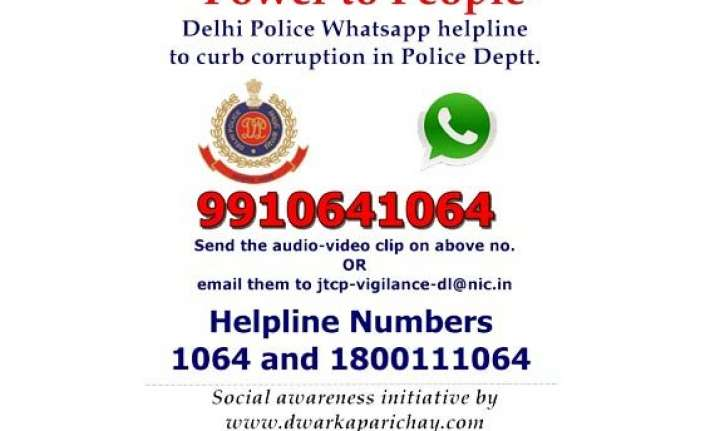 delhi traffic police launch new whatsapp helpline