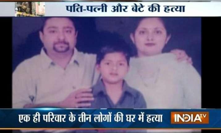 couple son found murdered in delhi