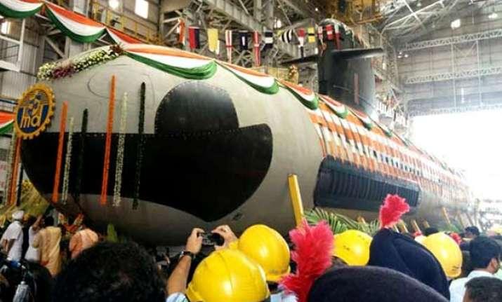 india s first indigenously built scorpene submarine