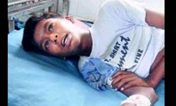 ahmedabad teacher beats up boy for not paying fees