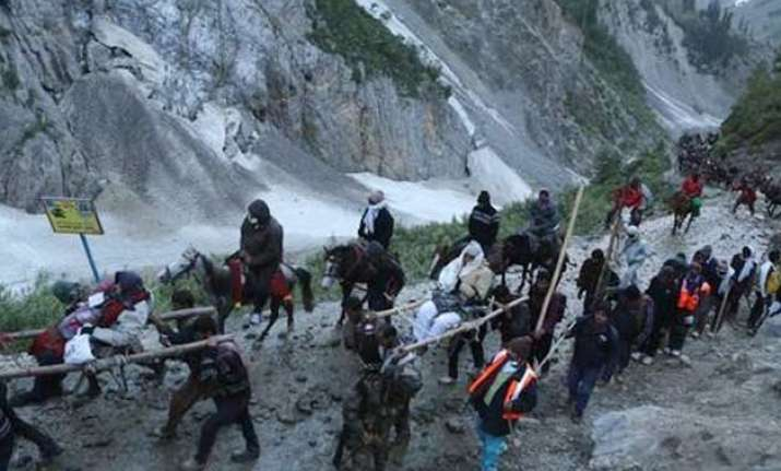 amarnath yatra resumes via baltal route