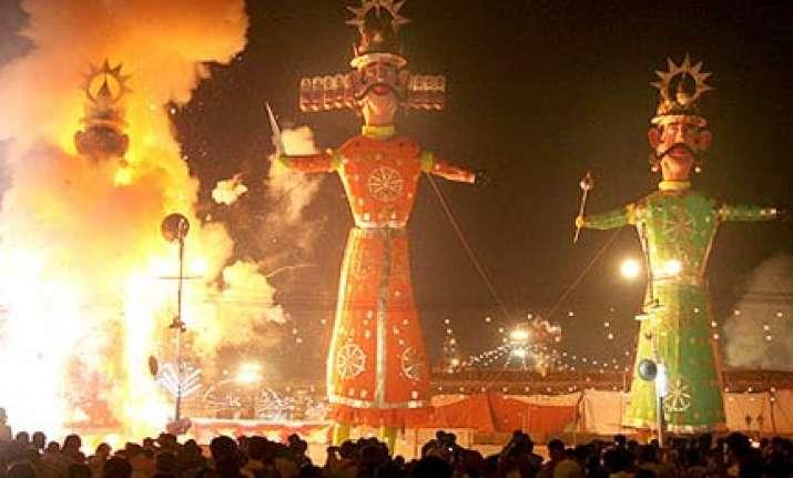evil goes up in flames as merriment marks dussehra