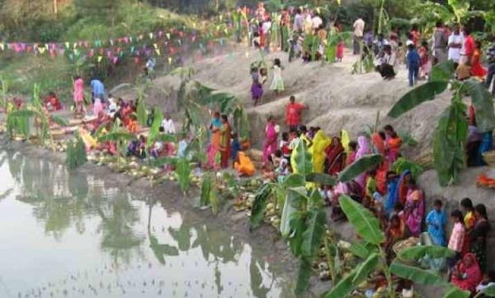 pm narendra modi greets people on chhath puja