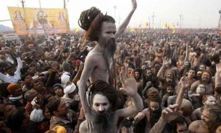 rift between sadhus over shahi snan in ardh kumbh mela
