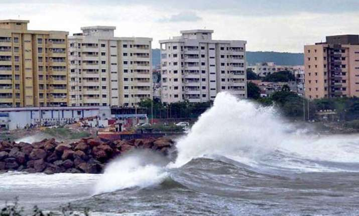 in pics cyclone hudhud creates havoc in andhra pradesh