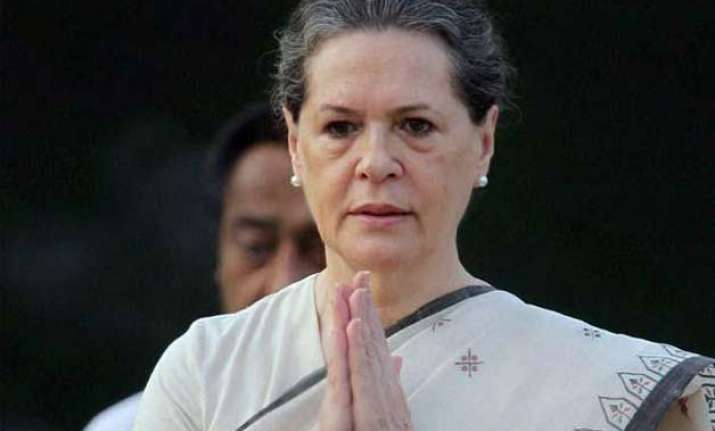 land bill govt terms sonia s stand as mere grandstanding
