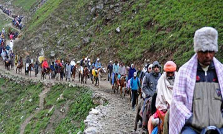 jammu srinagar national highway closure halts amarnath yatra