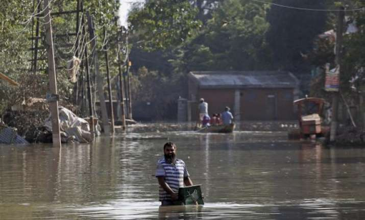 90 per cent area in srinagar dewatered