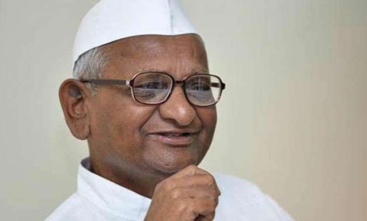 anna hazare meets associates discusses foot march against