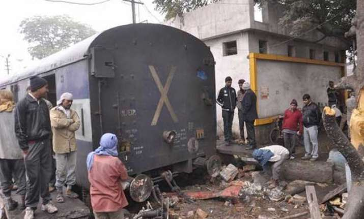 six injured as express train rams into a temple