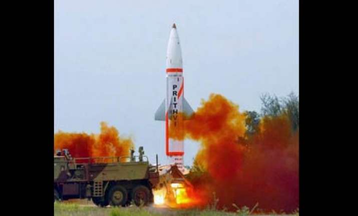 prithvi ii missile successfully test fired