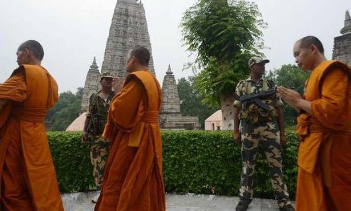 monks reprise buddha s walk route after enlightenment