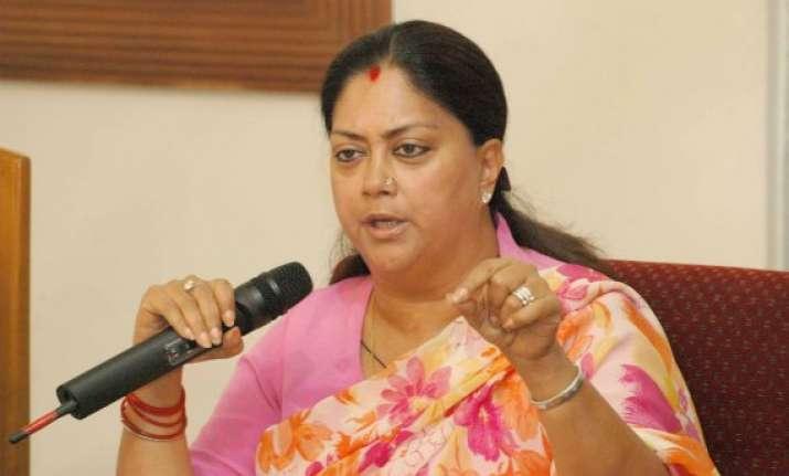 vasundhra raje calls for public support for improving