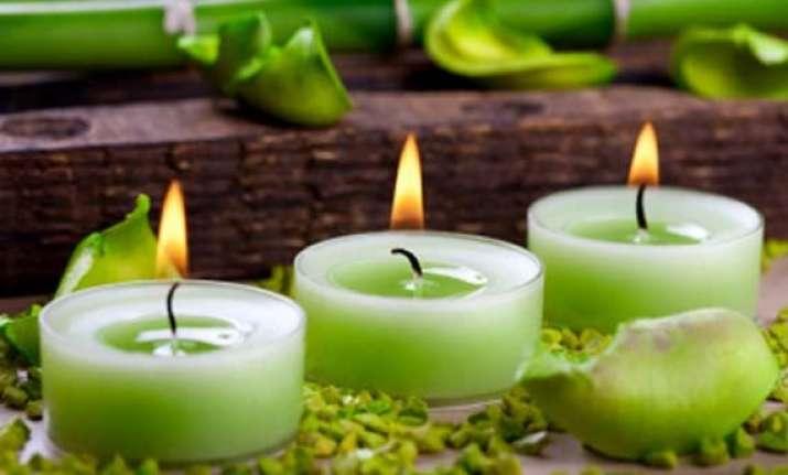 green diwali options upcycled candle moulds sandstone diyas