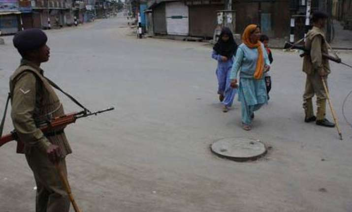 one killed in valley curfew in force in eight towns