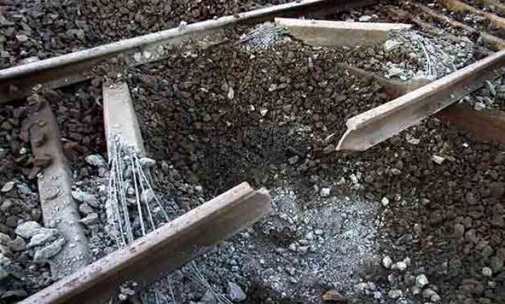 maoists explode bomb on rail line in odisha