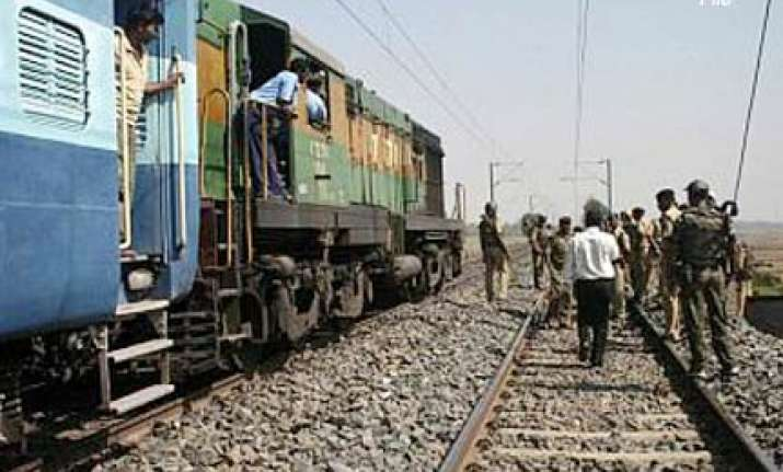militants trigger blast derail train in assam