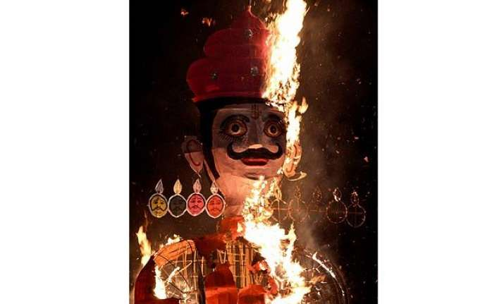 in pics evil goes up in smoke as country celebrates dussehra