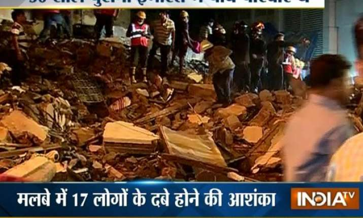 three storey building collapses in thane 11 dead