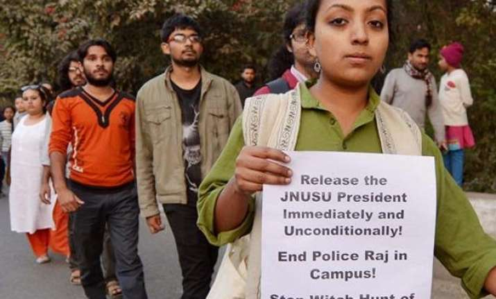look out notice issued for 3 jnu students over afzal guru