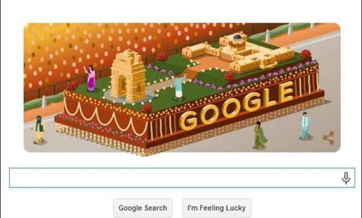 google doodle celebrates india s 66th republic day