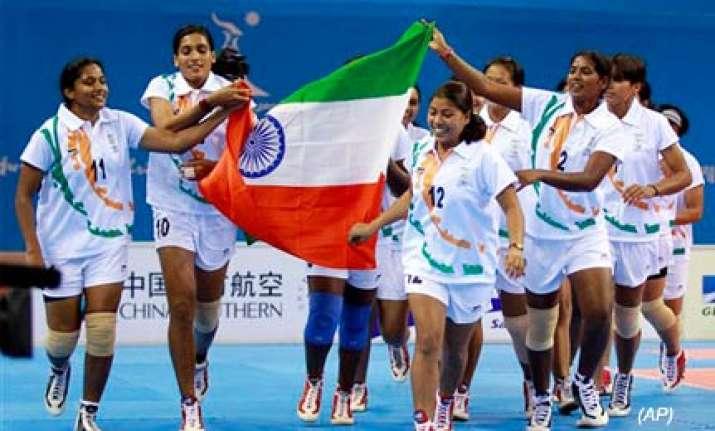 indian women win asiad kabaddi gold