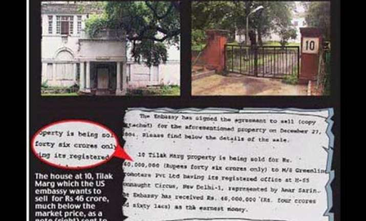 us embassy in delhi selling prime property for peanuts