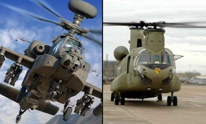 know apache and chinook choppers that india is buying from