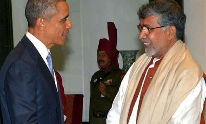 satyarthi meets obama seeks friendship to end child slavery