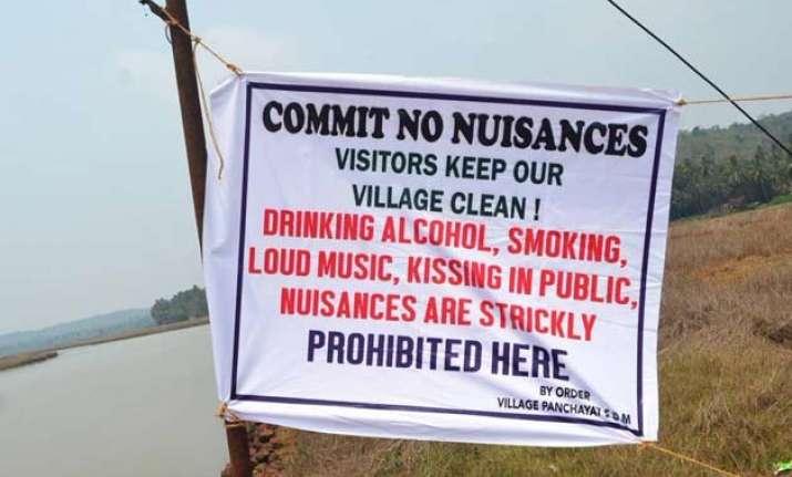 no nuisance please goa village bans kissing in public as it