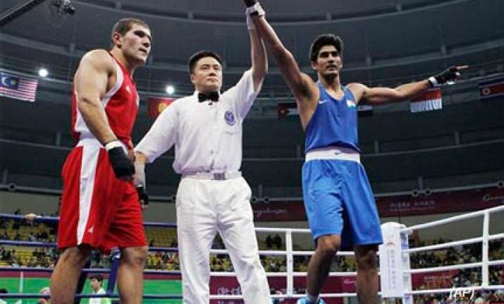 vijender knocks off historic 2nd asiad boxing gold for india