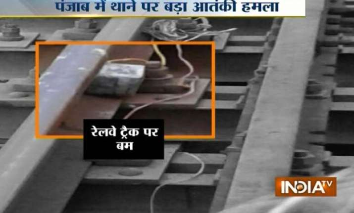 punjab five live bombs found on railway track